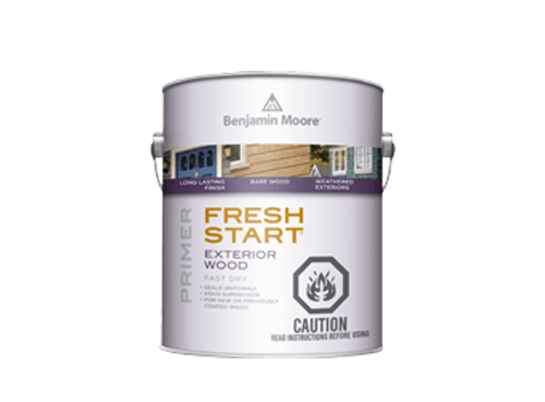 Benjamin Moore fresh start exterior wood primer paint