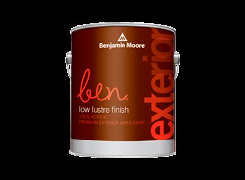 Benjamin Moore ben exterior low lustre finish paint