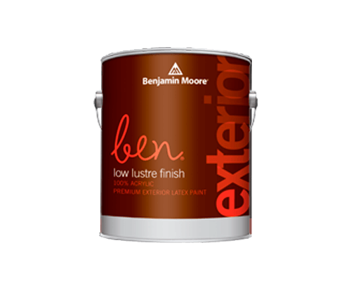 Benjamin Moore ben exterior low lustre finish paint