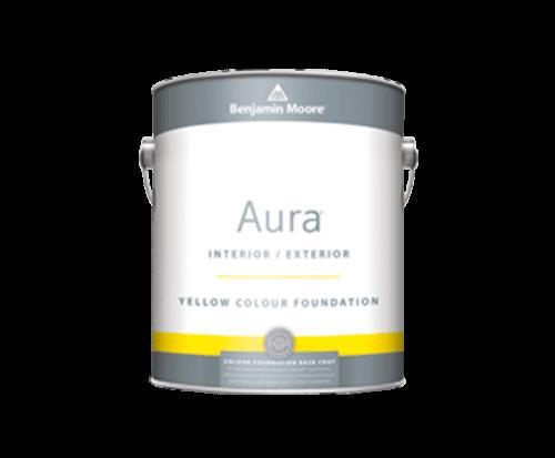Benjamin Moore aura interior exterior yellow colour foundation paint