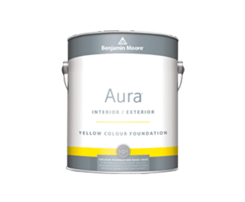 Benjamin Moore aura interior exterior yellow colour foundation paint