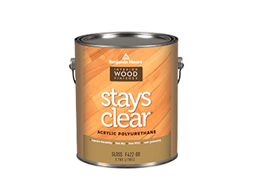 Benjamin Moore stays clear paint